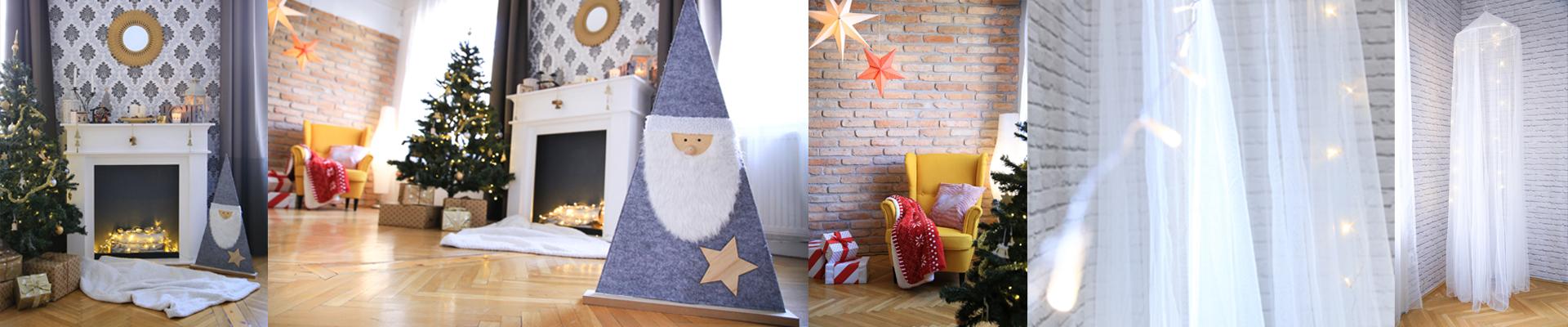Bérelhető fotóstúdió karácsonyi díszlettel