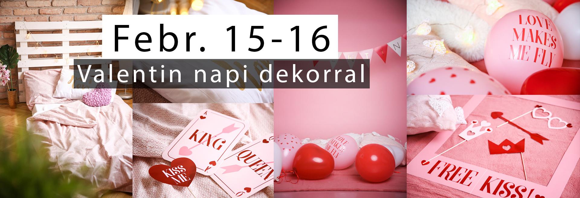 Valentin napi dekorációval bérelhető fotóstúdió Budapesten