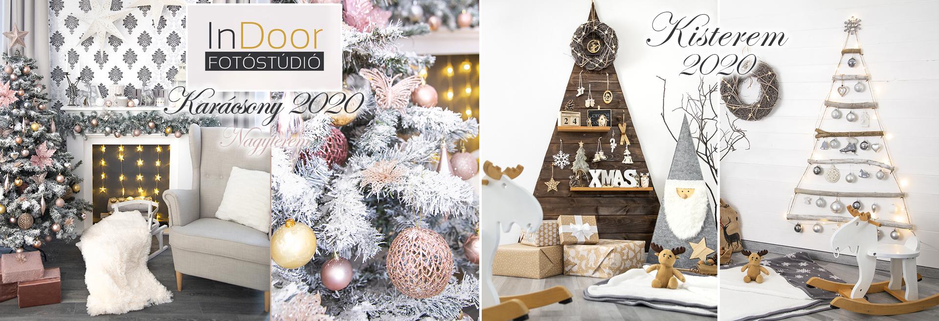Fotóstúdió karácsonyi dekorációval 2020